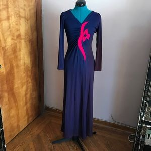 Vintage purple and pink ombré gown